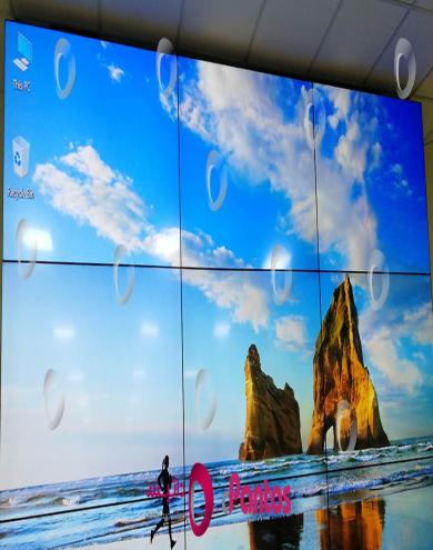 نصب ویدئو وال در سازمان علوم پزشکی کرمان