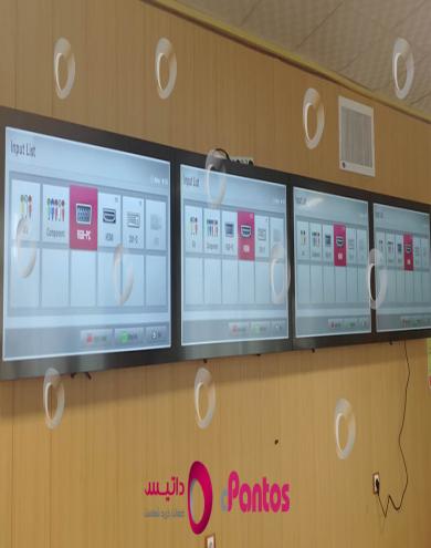 نصب ویدئو وال در سازمان علوم پزشکی یاسوج
