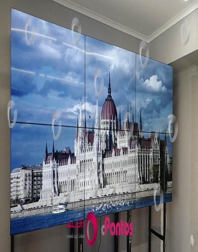 نصب ویدئو وال پنتوس در شرکت فن آپ مشهد